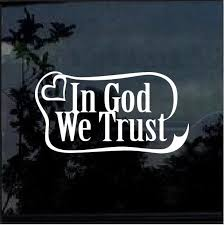 In God We Trust Ribbon Window Decal Sticker Custom Sticker Shop