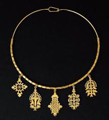 gold cross pendant necklace circa 20th