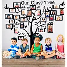 Our Class Tree School Classroom Decoration Wall Decal Sticker For Teachers With Student Picture Frames Amazon Com