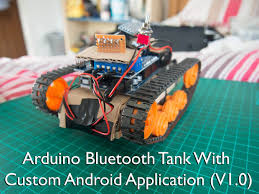 arduino bluetooth tank with custom