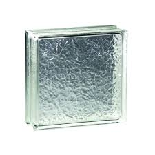 x 8 in x 4 in icescapes glass block