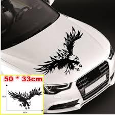 Black Flying Eagle Vinyl Graphics Decal Hood Sticker Car Front Stickers Decor Ebay
