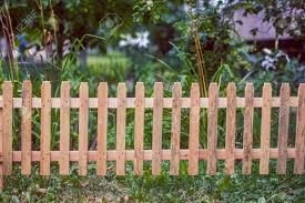 Small Wooden Fence In The Yard Stock Photo Picture And Royalty Free Image Image 82750392