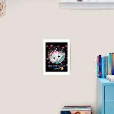 You Make My Heart Go Uwu Art Print By Neon Bullets Redbubble