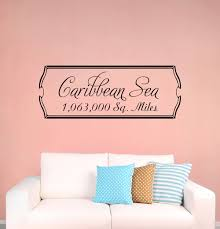 Ebern Designs Caribbean Sea Vinyl Words Wall Decal Wayfair