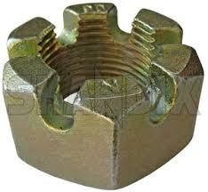 wheel bearing castle nut rear axle