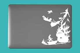 Amazon Com M6 Peter Pan And Hook Inspired Art Decal For Laptop Car Cup Mug Handmade Die Cut Vinyl Decal Sticker Kitchen Dining