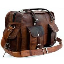 goat leather duffle travel bag