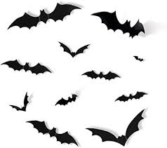 Amazon Com Jcren 72pcs 4 Sizes Halloween Decorations 3d Bats Decor Realistic Pvc Scary Bats Window Decal Wall Stickers For Diy Halloween Eve Decor Home Bathroom Indoor Hallowmas Decoration Party Supplies Toys