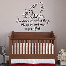 Amazon Com Sometimes The Smallest Things Classic Winnie The Pooh Wall Decal Quote Winnie The Pooh Vinyl Wall Decals Nursery Kids Home Kitchen