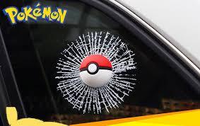 3d Car Window Sticker Pokemon Go Pokeball Fake Decal Decoration Funny Sticker Unbranded Car Stickers Funny Car Humor Car Window Stickers