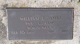 JAMES (VETERAN WWII), WILLIAM BONNER - Lawrence County, Arkansas | WILLIAM  BONNER JAMES (VETERAN WWII) - Arkansas Gravestone