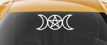 Triple Goddess Vinyl Car Decal Pagan Wiccan New Age Art Etsy