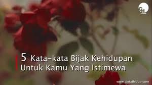 kata kata bijak kehidupan untuk kamu yang istimewa cintai hidup