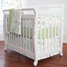 nursery rhyme toile sage portable crib