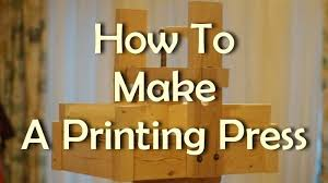 how to make a printing press printing