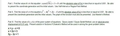 value of x in the equation xcos4x