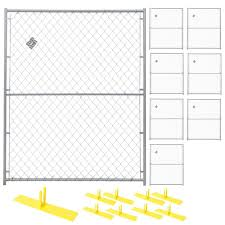 Perimeter Patrol 6 Ft X 40 Ft 8 Panel Powder Coated Chain Link Temporary Fencing Rf 1010 Cl The Home Depot