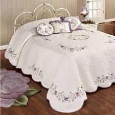 vintage bloom lavender grande bedspread