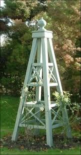 wooden garden obelisks beautiful