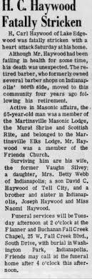 Obituary for H. Carl Haywood - Newspapers.com