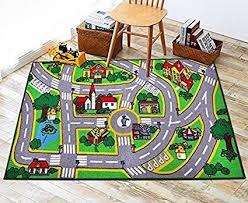 qoo10 ao kids rug with roads