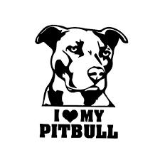 Parts Accessories Pitbull Mom Vinyl Decal Sticker Car Window Bumper Wall I Love My Rescue Dog Graphics Decals
