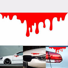 1pc Blood Bleeding Car Sticker Reflective Car Decals Rear Front Headlight Sticker Halloween Decor Car Sticker Sports Car Stickerscar Accessories Aliexpress