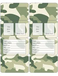 Camouflage Children S Id Free To Use Free To Share For