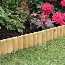 Fixed Log Roll Edging 15 X 100cm Garden Edging Decorative Garden Fencing Landscaping With Rocks