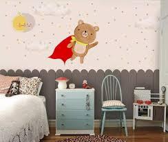 Amazon Com Kids Bedroom Wall Mural Carton Bear Photo Wallpaper Children Room Wall Paper Roll Wall Decor 120cm W X 100cm H Home Improvement