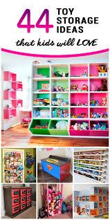 44 Best Toy Storage Ideas That Kids Will Love Living Room Toy Storage Kids Storage Kids Room Organization