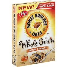 honey bunches cereal whole grain