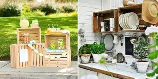 wooden crate ideas for kitchen