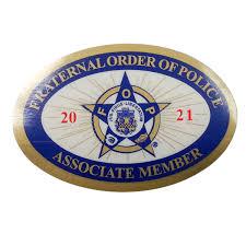 Associate Membership Window Decals Burlington Township Fraternal Order Of Police Lodge 84