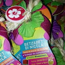 Fiesta Hawaiana Tarjeta De Invitacion Personalizada Bs 0 33