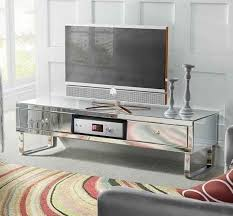 mirrored tv stand glass cabinet