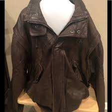 mens brown leather coat