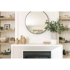 round circle glass wall decor mirror