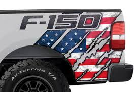 Quarter Panel Graphics For Ford F150 American Flag Racerx Customs Truck Graphics Grilles And Accessories