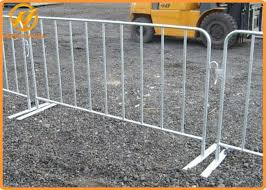 Temporary Metal Fencing Crowd Control Barrier Road Safety Barriers Reinforced Fixed Legs
