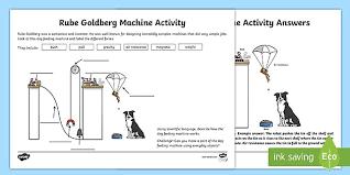 KS2 Rube Goldberg Machine Worksheet (teacher made)