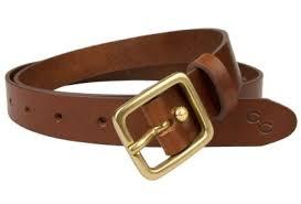 leather belt light chestnut 1 inch wide