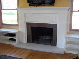 fireplace surround with side shelves