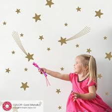 Star Wall Decals Outer Space Nursery Theme Room Decor Kids Etsy