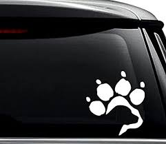 Amazon Com Labrador Retriever Dog Paw Print Pet Decal Sticker For Use On Laptop Helmet Car Truck Motorcycle Windows Bumper Wall And Decor Size 6 Inch 15 Cm Tall Color Matte White Arts