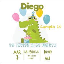 Invitacion Dinosaurio Personalizada Cumpleanos 3 Imprimible