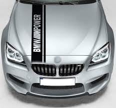 For Bmw M Power Dual Rally Hood Stripe Car Vinyl Sticker Etsy