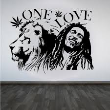 Bob Marley Lion Zion One Love Vinyl Wall Decal In 2020 Sticker Art Bob Marley Art Bob Marley Painting