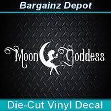 Vinyl Decal Moon Goddess Bohemian Hippie Pagan Wiccan Car Laptop Sticker Ebay